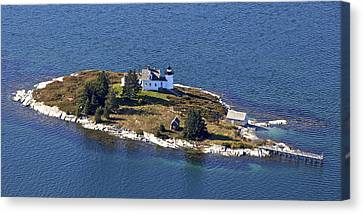 Pumpkin Island Lighthouse, Deer Isle Canvas Print by Dave Cleaveland