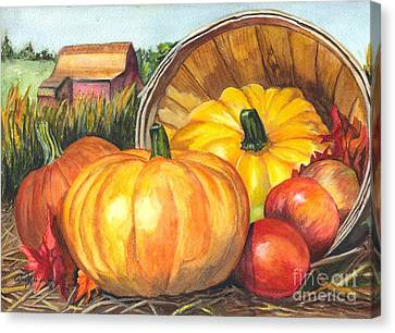 Pumpkin Pickin Canvas Print by Carol Wisniewski
