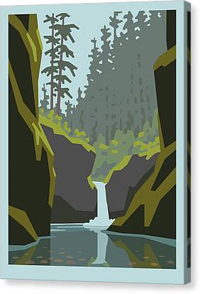 Punch Bowl Falls Canvas Print by Mitch Frey