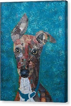 Puppy Love Canvas Print by Julie  Mortillaro