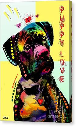 Puppy Love Canvas Print by Mark Ashkenazi