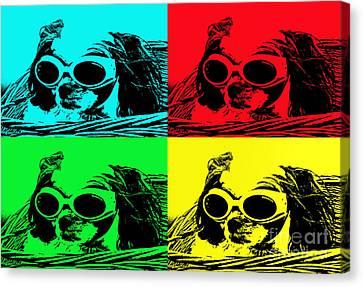 Puppy Mania Pop Art Canvas Print by Ella Kaye Dickey