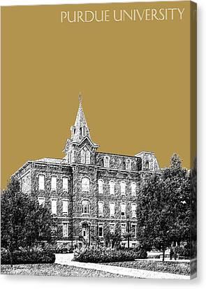 Purdue University - University Hall - Brass Canvas Print by DB Artist