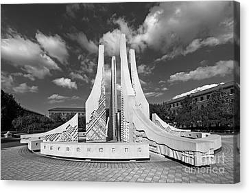 Purdue University Engineering Fountain Canvas Print by University Icons
