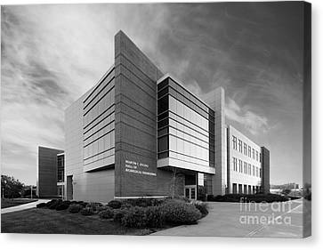 Purdue University Jischke Hall Of Biomedical Engineering Canvas Print by University Icons
