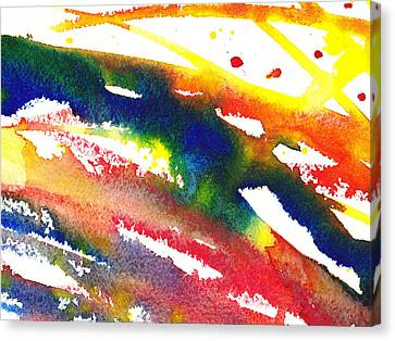 Pure Color Inspiration Abstract Painting Streaming Hue Canvas Print by Irina Sztukowski