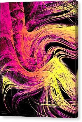 Purple And Yellow Digital Effect Canvas Print by Mario Perez