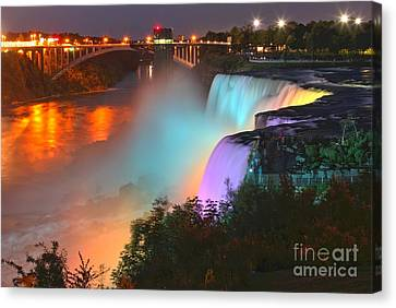 Purple Blue And Yellow At American Canvas Print by Adam Jewell