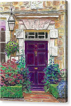 Purple Door Canvas Print by Helen White