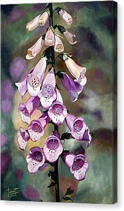 Purple Fingers, 2010 Canvas Print by Cruz Jurado Traverso