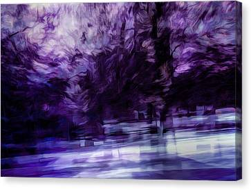 Purple Fire Canvas Print by Scott Norris
