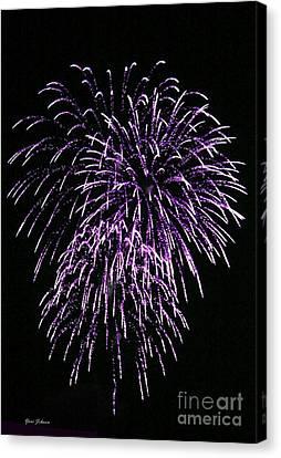 Purple Fire  Canvas Print by Yumi Johnson