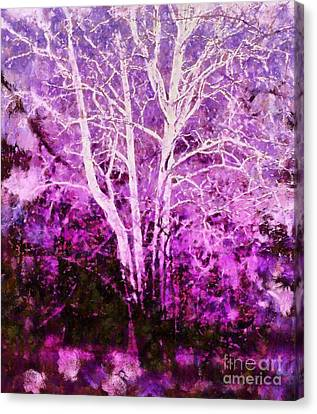 Purple Forest Fantasy Canvas Print by Janine Riley