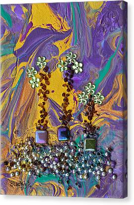 Purple Haze Pot Garden Canvas Print by Donna Blackhall