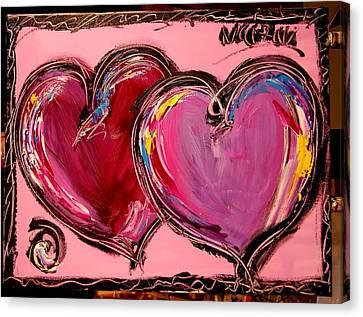 Purple Hearts Canvas Print by Mark Kazav