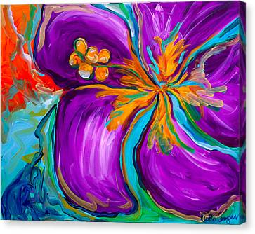 Purple Hibiscus Canvas Print by Beth Cooper