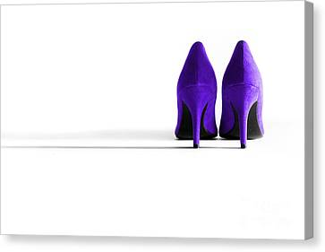 Purple High Heel Shoes Canvas Print by Natalie Kinnear