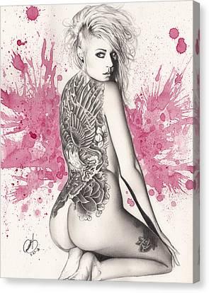Purple Lake Canvas Print by Pete Tapang