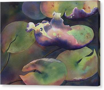 Purple Linings II Canvas Print by Johanna Axelrod
