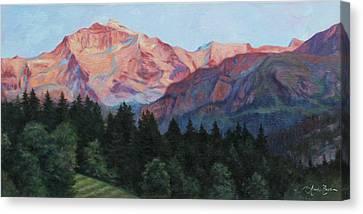 Purple Majesty Canvas Print by Anna Rose Bain