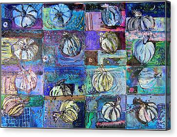 Purple Onions Canvas Print by Mindy Newman