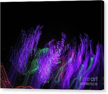 Purple Passion. Dancing Lights Series Canvas Print by Ausra Huntington nee Paulauskaite