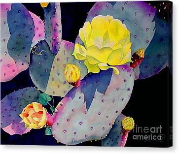Purple Prickly Pear Canvas Print by Robert Hooper