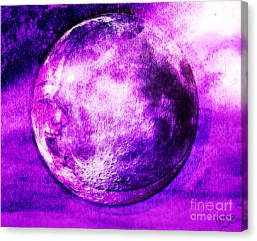 Purple Side Of The Moon Canvas Print by Mindy Bench