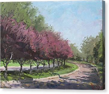 Purple Trees  Canvas Print by Ylli Haruni