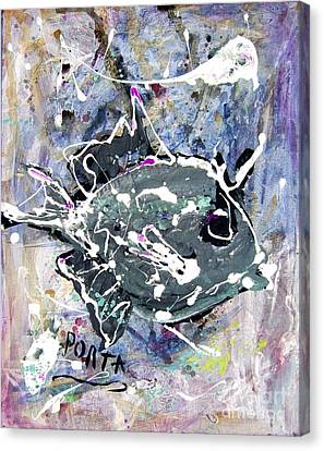 Purple Triggerfish Canvas Print by Dustin Porta