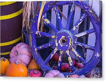 Purple Wagon Wheel Canvas Print by Garry Gay
