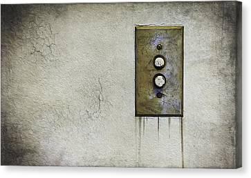 Push Button Canvas Print by Scott Norris