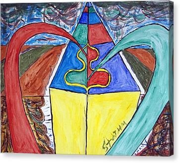 Pyramid Base Canvas Print by Stormm Bradshaw