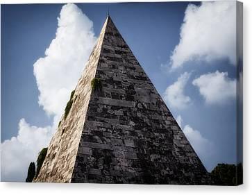 Pyramid Of Rome Canvas Print by Joan Carroll