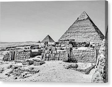 Pyramids  Canvas Print by Karam Halim