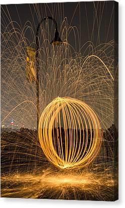 Pyrotechnics Canvas Print by Susan Candelario