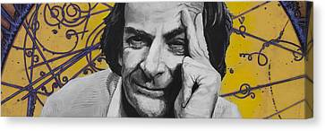 Qed- Richard Phillips Feynman Canvas Print by Simon Kregar