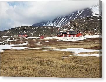 Qeqertarsuaq Arctic Station Canvas Print by Mikkel Juul Jensen