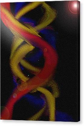 Quadruplex Dna Canvas Print by Nicla Rossini