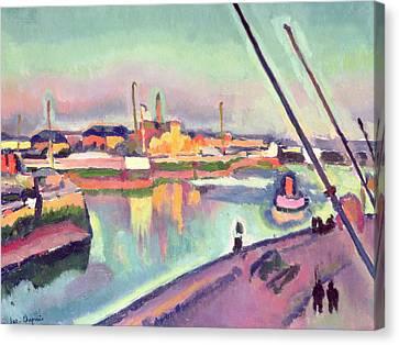 Quai Notre Dame Le Havre Canvas Print by Georges Dupuis