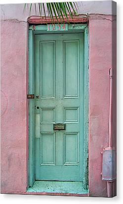 Quaint Little Door In The Quarter Canvas Print by Brenda Bryant