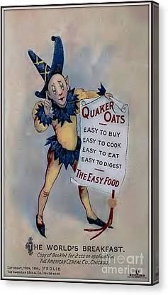 Quaker Oats Vintage Advertisement Canvas Print by Unknown