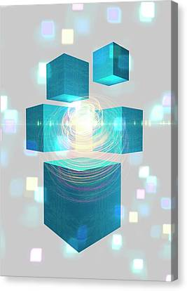 Quantum Mechanics Canvas Print by Victor Habbick Visions