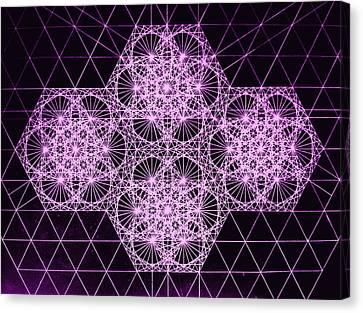 Quantum Snowfall Canvas Print by Jason Padgett