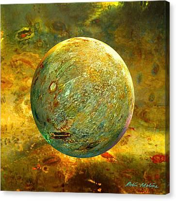 Quantum Soul...orb Of Light Canvas Print by Robin Moline