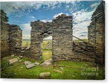 Quarry Ruin Canvas Print by Adrian Evans