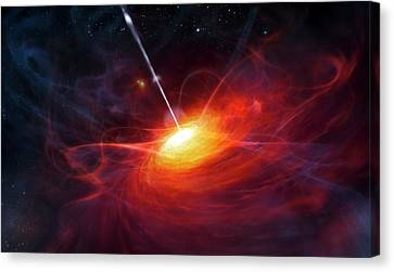 Quasar Canvas Print by Eso/m. Kornmesser