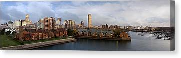 Queen City Skyline Canvas Print by Peter Chilelli
