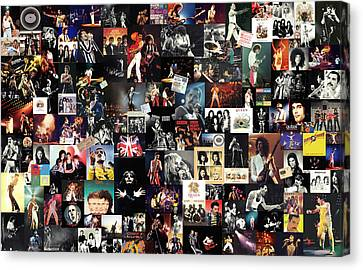 Queen Collage Canvas Print by Taylan Apukovska