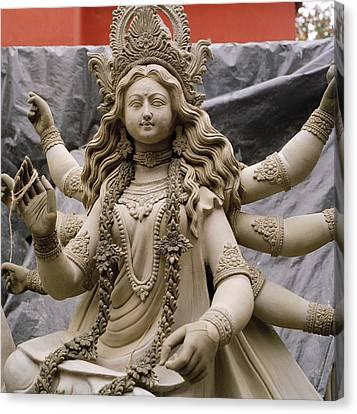 Queen Durga Canvas Print by Shaun Higson